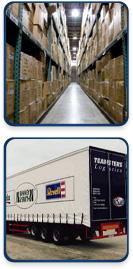 Shipping and transportation services with moving and storage facilites